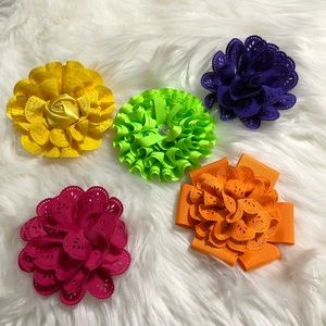 Set of 5 Hair Bows for Hair!!!!